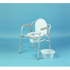 folding commode & toilet surround