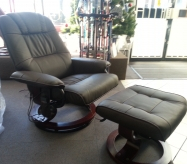 ex demo swivel recliner chair & stool (with massage & heat)